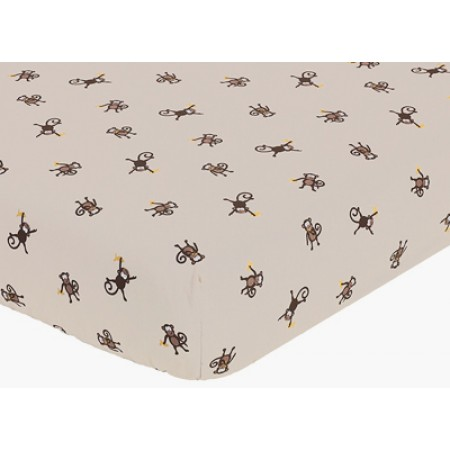 Monkey Crib Sheet - Print