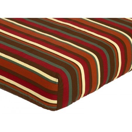 Monkey Crib Sheet - Stripe