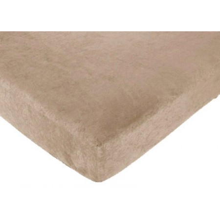 Monkey Crib Sheet - Camel Microsuede