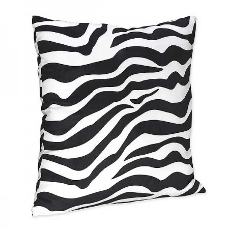 Purple Zebra Accent Pillow