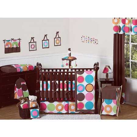 Deco Dot Crib Bedding Set by Sweet Jojo Designs - 9 piece