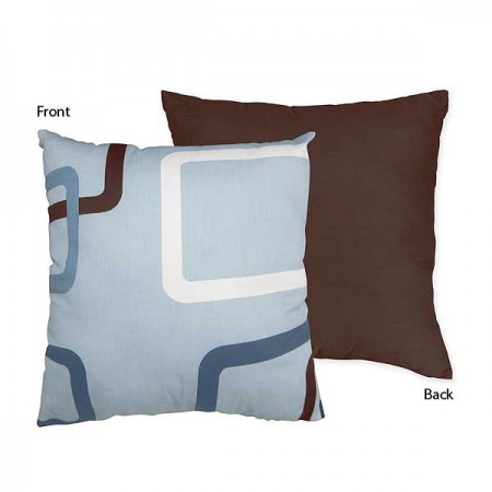Geo Blue Accent Pillow