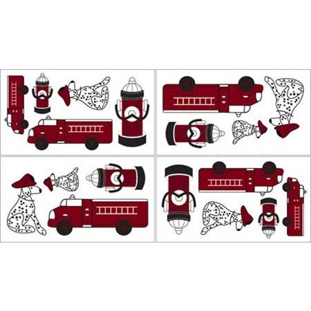 Frankies Firetruck Wall Decals