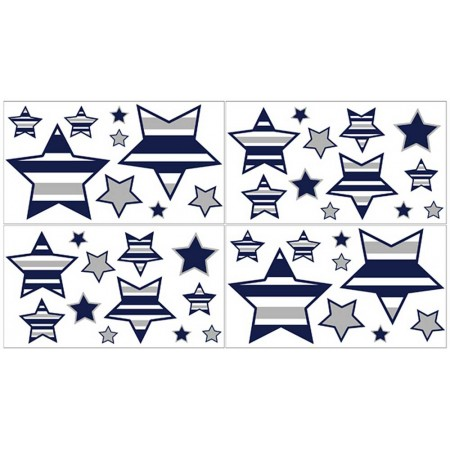 Navy & Gray Stripe Wall Decals