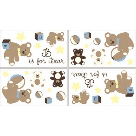 Teddy Bear Chocolate Wall Decals