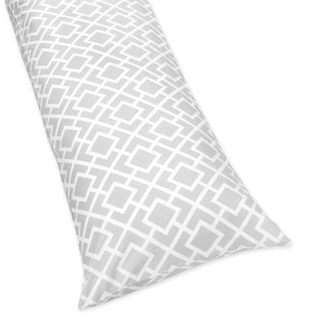 Diamond Gray & White Body Pillow Cover