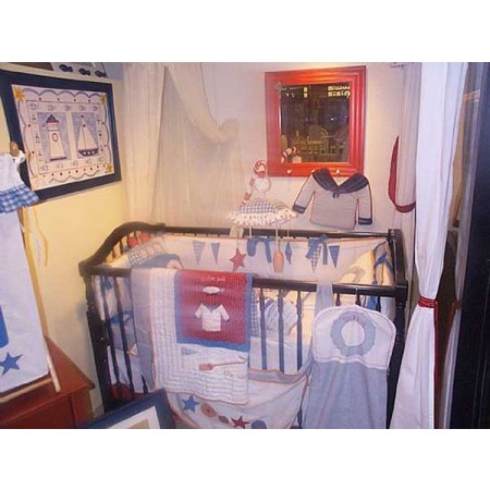 Dockside 4 Piece Crib Bedding Set by California Kids