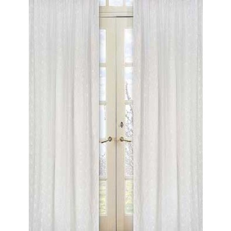 White Eyelet Window Panels