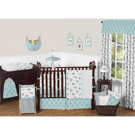 Earth and Sky Crib Bedding Set by Sweet Jojo Designs - 9 piece