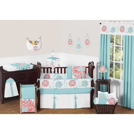 Emma Crib Bedding Set by Sweet Jojo Designs - 9 piece