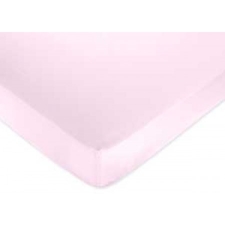 Flower Pink And Green Crib Sheet
