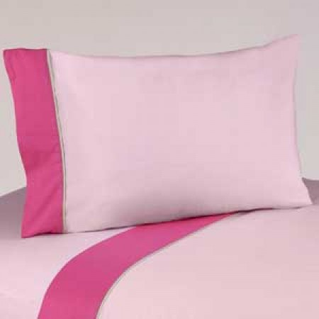 Flower Pink And Green Twin Size Sheet Set