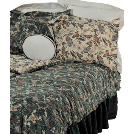 Flying Tigers Twin Size Bunk Bed Hugger Comforter by California Kids (Clearance)