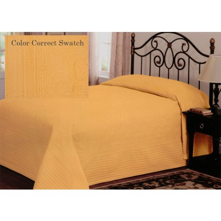 French Tile Queen Bedspread Gold