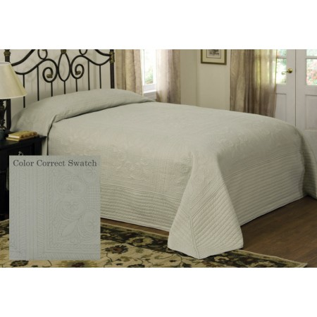 French Tile Queen Bedspread Sage