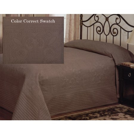 French Tile Twin Bedspread Taupe