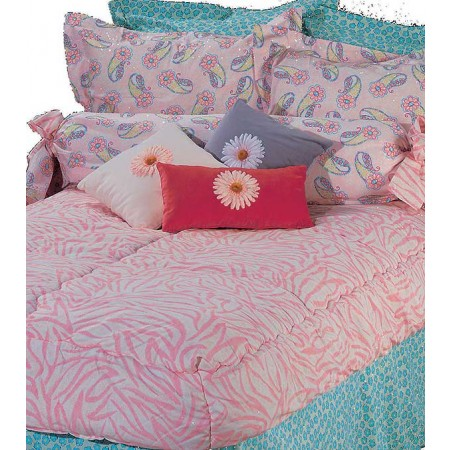 Go Girl Zebra Print Bunk Bed Hugger Comforter - Twin Size by California Kids (Clearance)