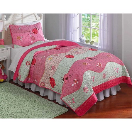 Garden Waves Quilt Set - Full Queen Size