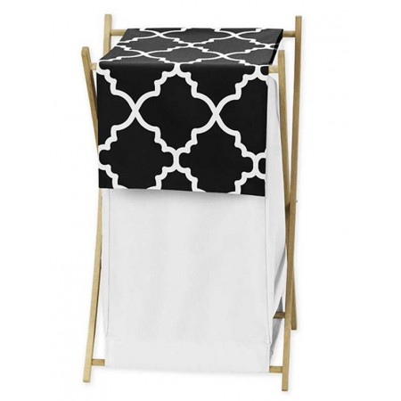 Black & White Trellis Hamper