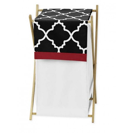 Red & Black Trellis Hamper