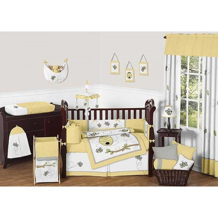 Honey Bee Crib Bedding Set by Sweet Jojo Designs - 9 piece