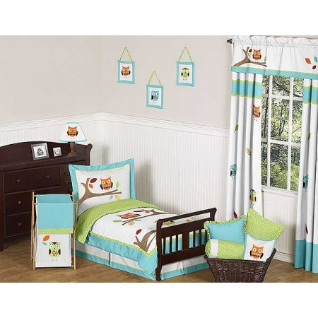 Hooty the Owl Toddler Bedding Set By Sweet Jojo Designs