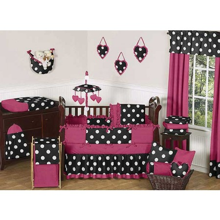Hot Dot Crib Bedding Set by Sweet Jojo Designs - 9 piece