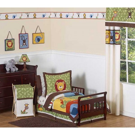 Jungle Time Toddler Bed Set By Sweet Jojo Designs