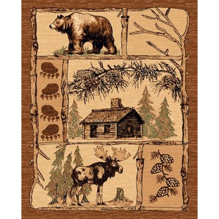 LODGE-362 Log Cabin Area Rug - Lodge Collection