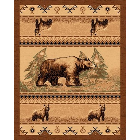 LODGE-364 Southwest Bear Area Rug - Lodge Collection