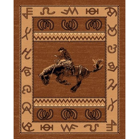 LODGE-370 Bucking Bronco Area Rug - Lodge Collection