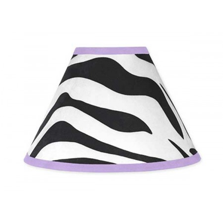 Purple Zebra Lamp Shade
