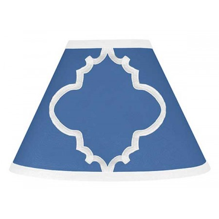 Blue & White Trellis Lamp Shade