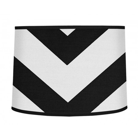 Black & White Chevron Print Large Lamp Shade