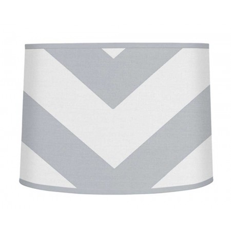Gray & White Chevron Print Large Lamp Shade