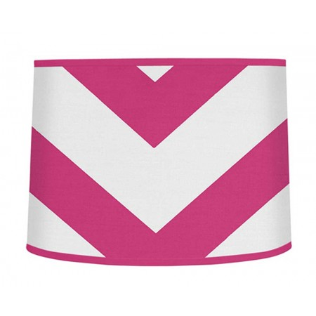 Pink & White Chevron Print Large Lamp Shade