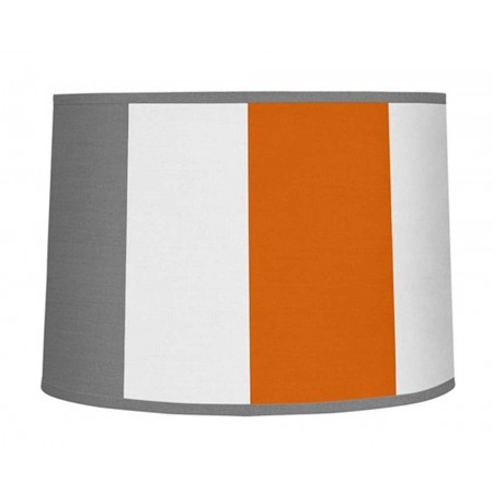 Gray & Orange Stripe Large Lamp Shade