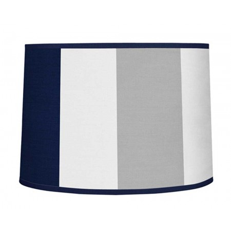 Navy & Gray Stripe Large Lamp Shade