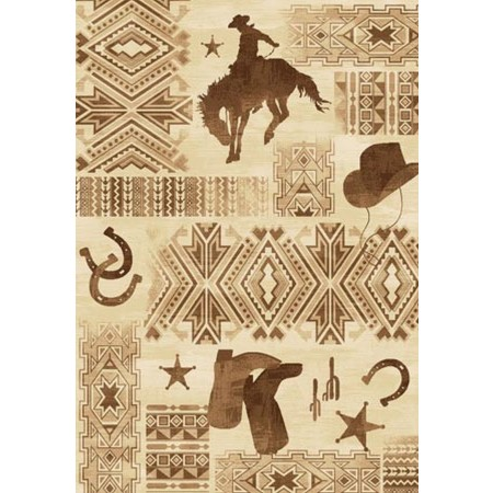 LODGE-385 Southwest Cowboy Area Rug - Lodge Collection