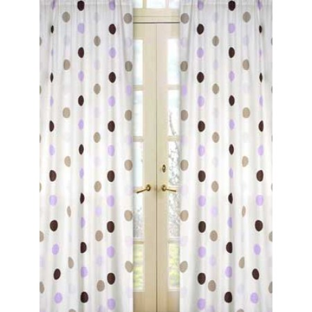 Lavender Mod Dots Window Panels