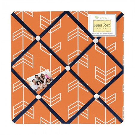 Arrow Orange & Navy Fabric Memo Board