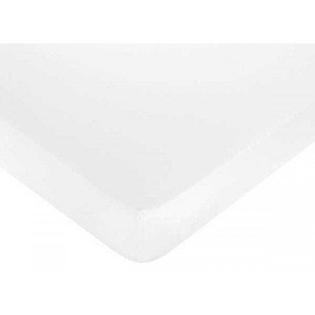 Minky Dot White Crib Sheet - White Microsuede