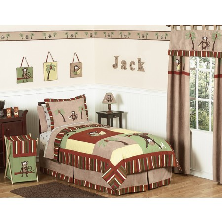 Monkey Bedding Set - 4 Piece Twin Size By Sweet Jojo Designs