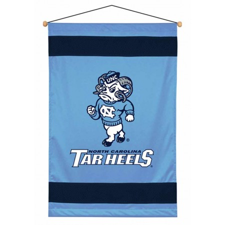 North Carolina Tar Heels Sideline Wall Hanging - 28 X 45