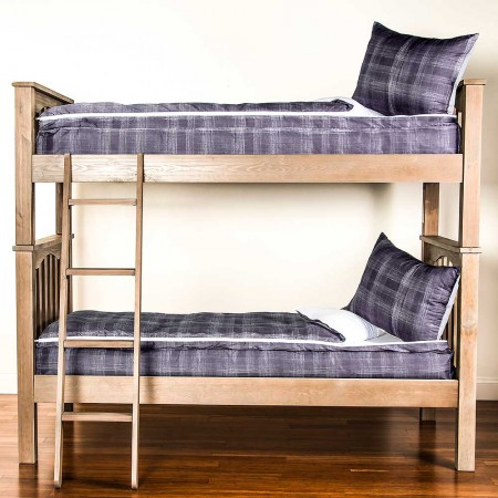 Nocturnal Twin Size 2 Piece Bunkie Set