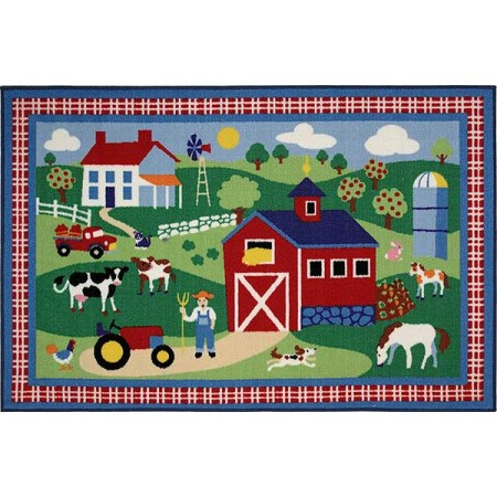 Country Farm Accent Rug
