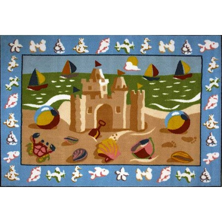 Fun Rugs Sand Castle Accent Rug by Olive Kids
