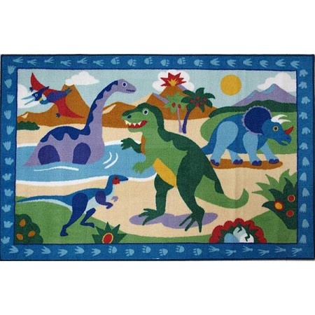 Olive Kids Dinosaur Land Rug from Fun Rugs