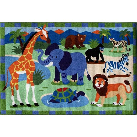 Wild Animals Accent Rug