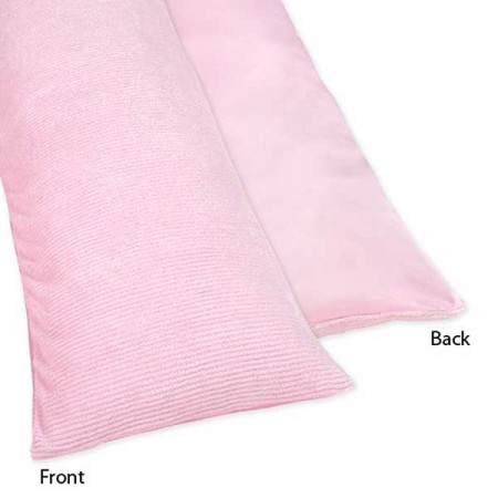 Chenille Pink Body Pillow Cover